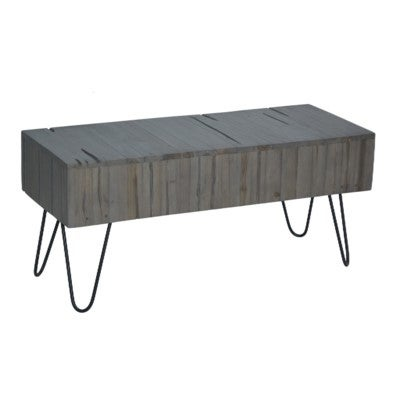 Shop East At Main S Regina Rustic Farmhouse Bench 39 X16 X18