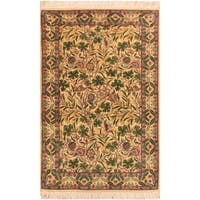 Imran Pak-Persian Chiquita Ivory/Gray Wool Rug (3'2 x 5'1) - 3 ft. 2 in. x 5 ft. 1 in.