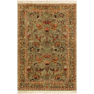 Pak-Persian Marilee Lt. Green/Gray Wool Rug (2'6 x 4'3) - 2 ft. 6 in. x 4 ft. 3 in.