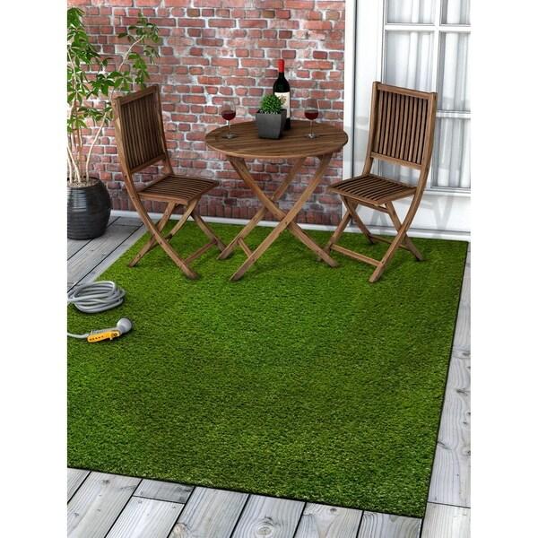 Shop Well Woven Artificial Grass Indoor Outdoor Turf Green