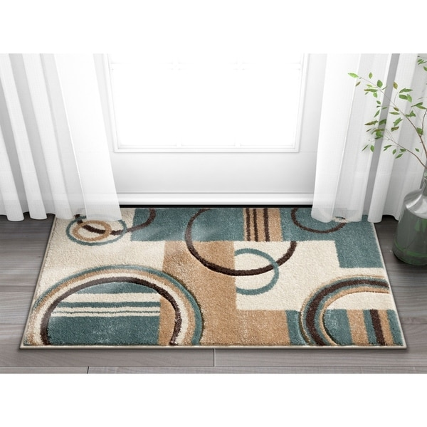 Well Woven Modern Geometric Arcs Shapes Accent Rug - 2' x 3'
