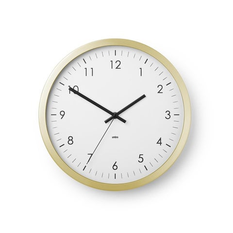 """Wall Clock - 12"""" Metal Frame - Battery Operated - Clock for Kitchen, Nursery, Office, School, Hospital - Silent Second-Hand"""