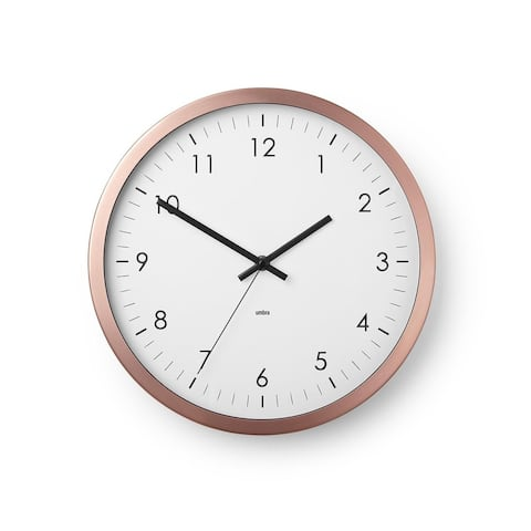 "Wall Clock - 12"" Metal Frame - Battery Operated - Clock for Kitchen, Nursery, Office, School, Hospital - Silent Second-Hand"