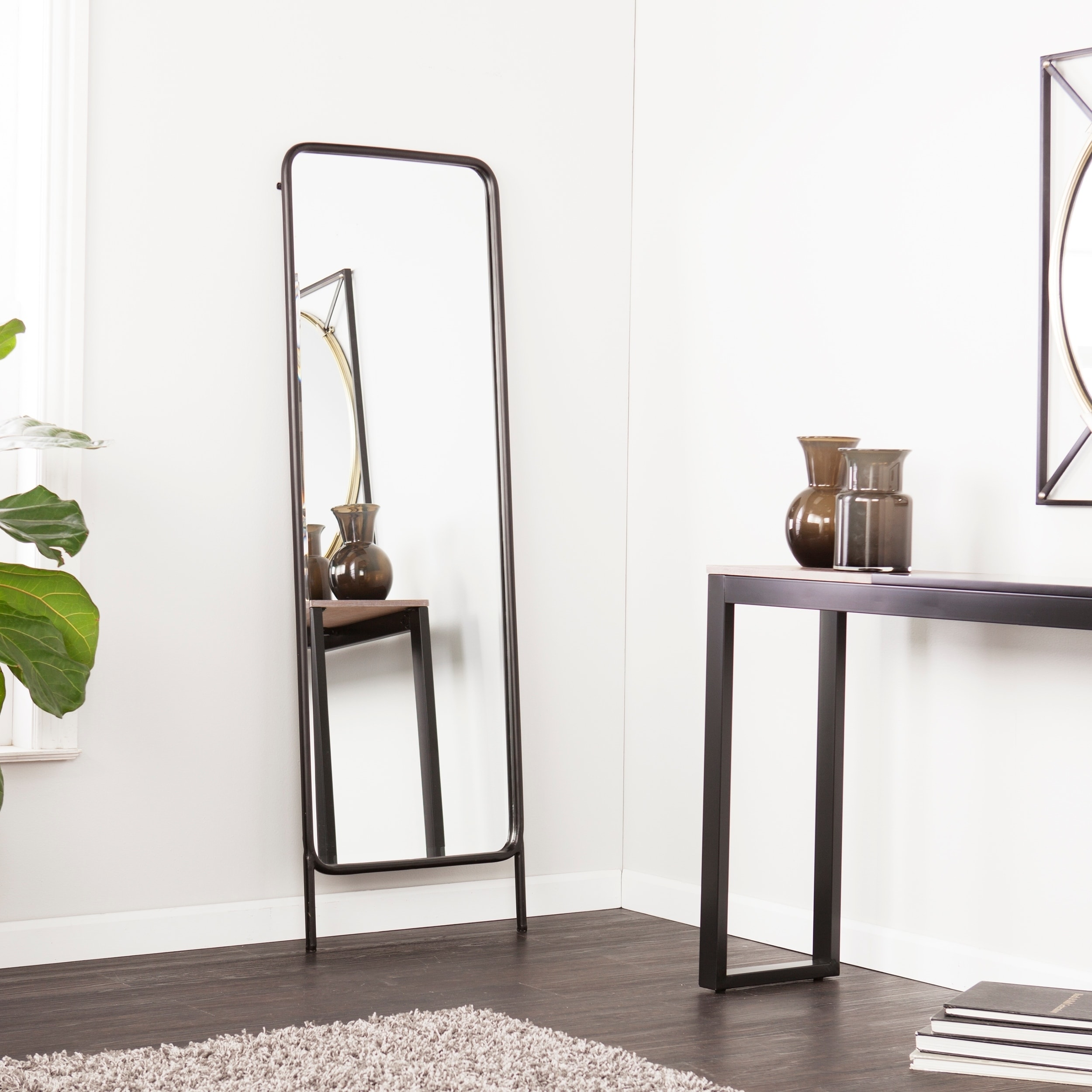 Shop Holly Martin Sowell Black Full Length Floor Mirror