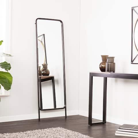 SEI Furniture Sowell Black Full-Length Floor Mirror