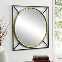 Harper Blvd Spalding Black w/ Gold Oversized Decorative Wall Mirror