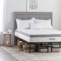 Weekender 10-inch Queen-size Hybrid Mattress with Folding Platform Bed Frame
