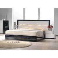 Best Master Furniture White/Black Wood Platform Bed