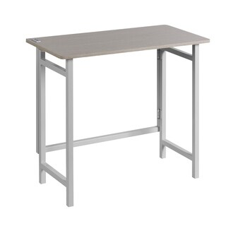 OneSpace Basics Compact No Assembly Desk with USB Charging, White