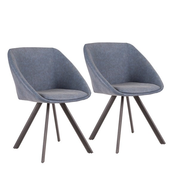 Matisse Contemporary Chair in Faux Leather (Set of 2)