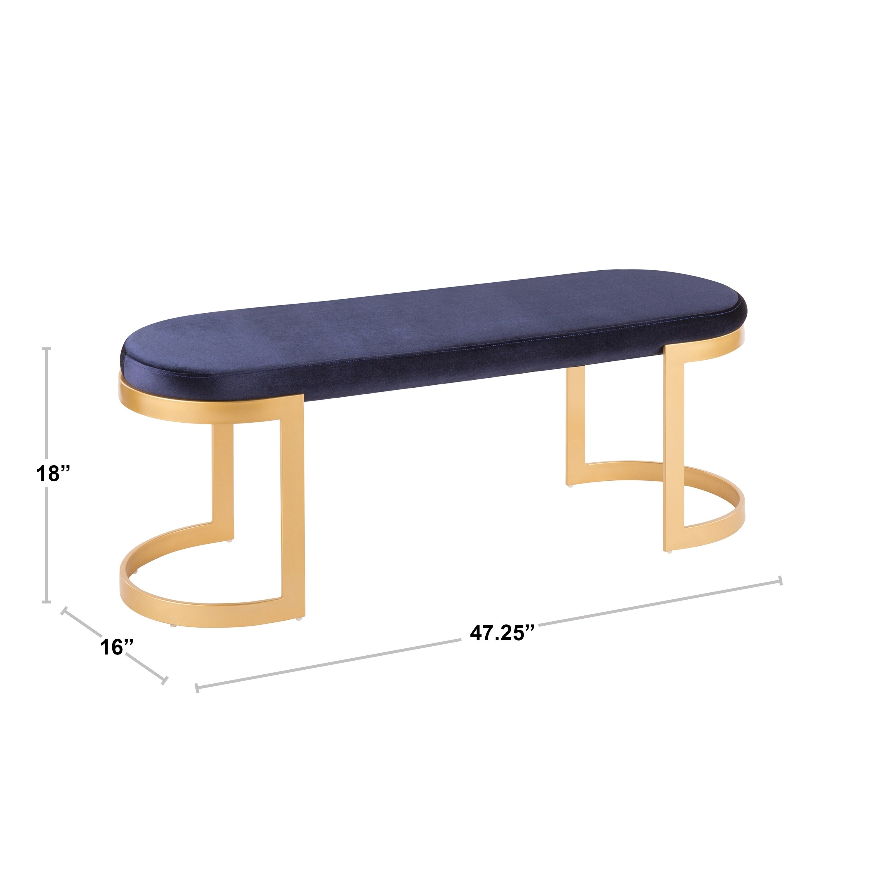 Fine Demi Contemporary Glam Entrway Dining Bench In Gold With Velvet Fabric Dailytribune Chair Design For Home Dailytribuneorg