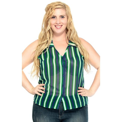 Simplicity Women's Summer Plus Size Vest Loose Fit Tops