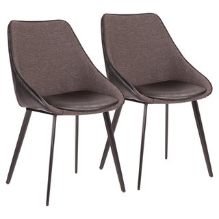 Copper Grove Aken Fabric and Faux Leather Chairs (Set of 2)