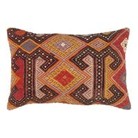 "Pasargad Vintage Turkish Multi Kilim Pillow (16"" X 24"")"