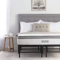Weekender 10-inch Hybrid Mattress and Folding Platform Bed Frame Set