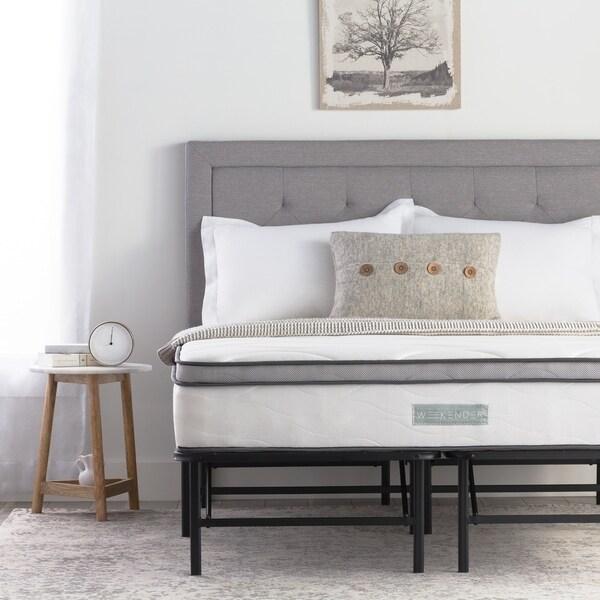 Shop 10 Inch Hybrid Mattress And Folding Platform Bed Frame Set By