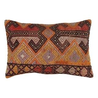 "Pasargad Vintage Turkish Kilim Pillow (16"" X 24"")"