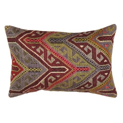"""Pasargad Vintage Turkish Kilim Lumber Pillow (16"""" X 24"""")"""