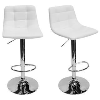 Best Master Furniture Adjustable Swivel Modern Bar Stools (Set of 2)