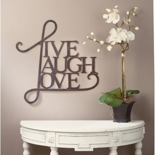 Live, Laugh, Love Wall Decor- Antique Copper / White Finish