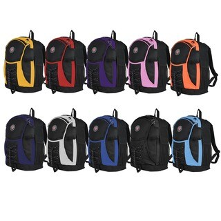 World Traveler 17-Inch Transworld Student Backpack (Option: Black Yellow)