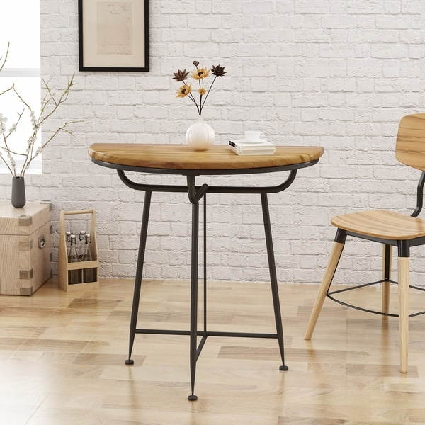 Lizbeth Industrial Half Round Table by Christopher Knight Home