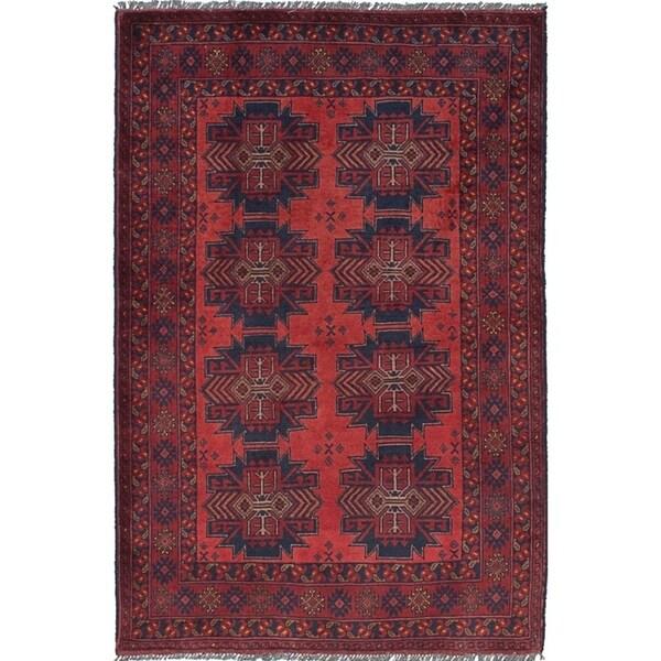 eCarpetGallery Hand-knotted Finest Khal Mohammadi Dark Copper Wool Rug - 3'3 X 4'11