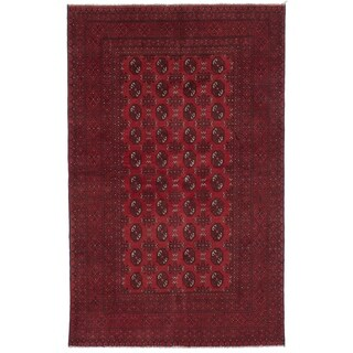 eCarpetGallery  Hand-knotted Khal Mohammadi Red Wool Rug - 5'0 x 8'0