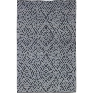 eCarpetGallery  Hand-knotted Eternity Light Grey Wool Rug - 5'0 x 7'10