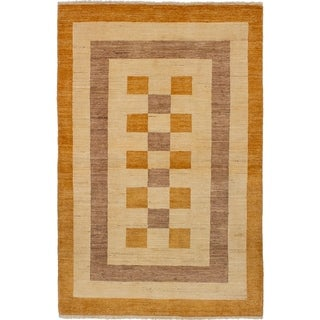 eCarpetGallery  Hand-knotted Finest Ziegler Chobi Cream Wool Rug - 3'11 x 6'1