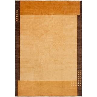 eCarpetGallery  Hand-knotted Finest Ziegler Chobi Beige Wool Rug - 6'10 x 9'9