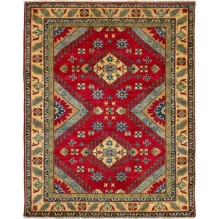eCarpetGallery  Hand-knotted Finest Gazni Red Wool Rug - 5'2 x 6'5