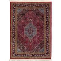 eCarpetGallery  Hand-knotted Bijar Red Wool Rug - 4'9 x 6'8