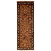 ECARPETGALLERY  Hand-knotted Serapi Heritage Dark Copper Wool Rug - 2'7 x 8'0