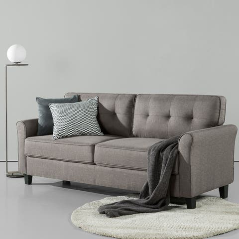 Priage by Zinus Traditional Sofa, Sand Grey