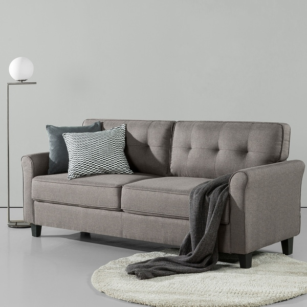 Shop Priage By Zinus Traditional Sofa Sand Grey Free