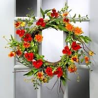 24 Inch Summer Wild Flower Wreath