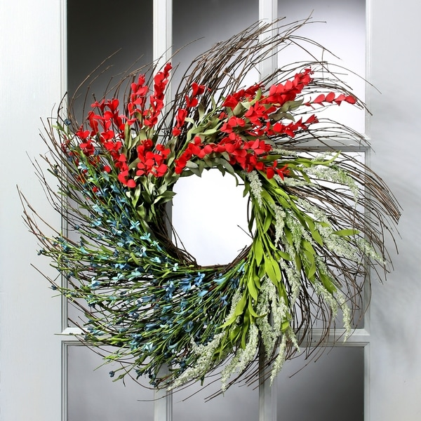 24 Inch Sectional Wild Flower Wreath