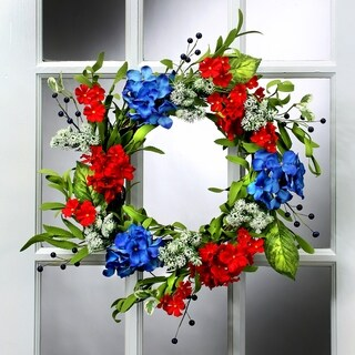 20 Inch Berry Hydrangea & Queen Ann Mix