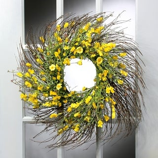 24 Inch Daisy Thistle Wreath