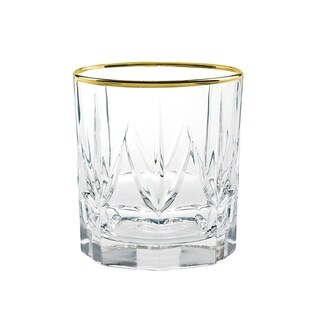 Chic Set of 6 DOF Tumblers with 24K Gold By Lorren Home Trends
