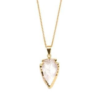 Abbakka Crystal Arrowhead Necklace - Clear