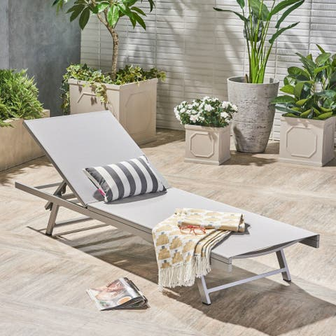 Salton Outdoor Chaise Lounge by Christopher Knight Home