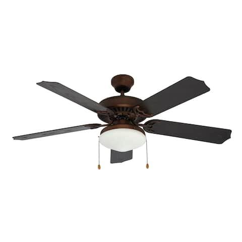 Woodrow Rubbed Oil Bronze 1-light Outdoor Ceiling Fan