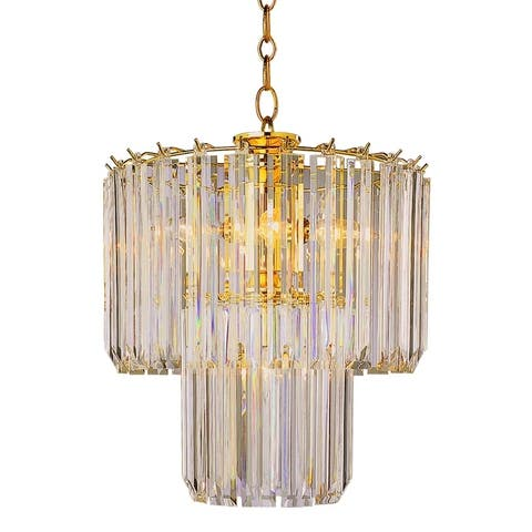 Tranquility Polished Brass 5-light Pendant