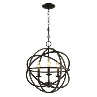 Apollo Rubbed Oil Bronze 3-light Pendant