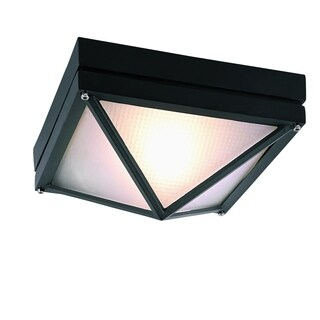 Harland Black 1-light Flushmount Lantern