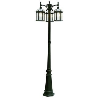 Wentworth Black 3-light Pole Light