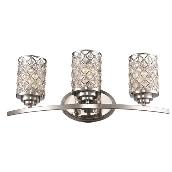 3 light vanity bar bathroom light fixture 4 infusion polished chrome 3light vanity bar shop free shipping