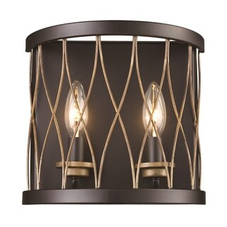Tahoe Rubbed Oil Bronze 2-light Wall Sconce